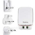HOCO 2 USB Charger with Universal Socket C4