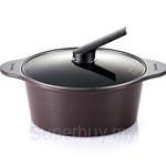 Happycall 28cm/6.3LT Alumite Ceramic Die Cast Stock Pot + Cover (Brown) - 3003-0022