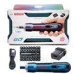 Bosch GO Smart Screwdriver Kit Version come with 33 pcs Accessories Kit + USB Adaptor + USB Cable + Plastic Case - 06019H20L1