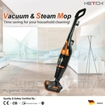HETCH Vacuum & Steam Mop (Black + Orange) 1000W + 550W - SVC-1406-HC