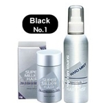 Super Million Hair Fiber 15g + Hair Mist 165ml-Black