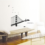 IR Bridge Wall Deco Sticker (50cm x 70cm)