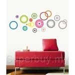 IR Color Circle Wall Deco Sticker (50cmx70cm)