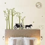 IR Birch and Road Wall Deco Sticker (50cmx70cm)
