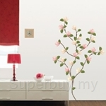 IR Magnolia Flower Wall Deco Sticker (33cm x 60cm)