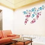 IR Deco Flower Wall Deco Sticker (70cmx100cm)
