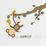 IR Cute Monkey Wall Deco Sticker (35cm x 50cm)