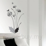 IR Modern Chrysanthemum Wall Deco Sticker (35cm x 50cm)