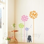 IR Butterfly & Cat Wall Deco Sticker (50cmx70cm)