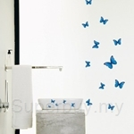 IR Blue Butterfly Wall Deco Sticker (35cm x 50cm)