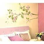 IR Cherry Bloosom (3D Sticker) Wall Deco Sticker (50cm X 70cm)