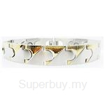 Criss Magnetic Bracelet for Men - SSM-8075-G
