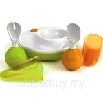mOmma Developmental Meal set (Orange/Green/Red/Blue)