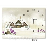 hOurHome Modern Art Paintings & Clock N1010