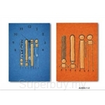 hOurHome Modern Art Paintings & Clock -Rectangular, 2-piece set- A2002