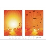 hOurHome Modern Art Paintings & Clock -Rectangular, 2-piece set- A2014