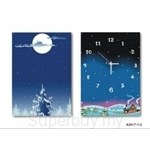 hOurHome Modern Art Paintings & Clock -Rectangular, 2-piece set- A2017