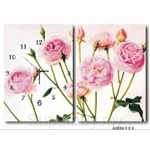 hOurHome Modern Art Paintings & Clock -Rectangular, 2-piece set- A2024