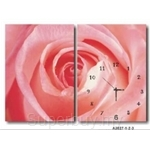 hOurHome Modern Art Paintings & Clock -Rectangular, 2-piece set- A2027