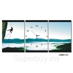 hOurHome Modern Art Paintings & Clock -Rectangular, 3-pieces set- A3066-1-2-3