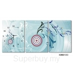 hOurHome Modern Art Paintings & Clock -Rectangular, 3-pieces set- A3068-1-2-3