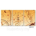 hOurHome Modern Art Paintings & Clock -Rectangular, 3-pieces set- A3069-1-2-3