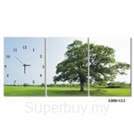 hOurHome Modern Art Paintings & Clock -Rectangular, 3-pieces set- A3090-1-2-3