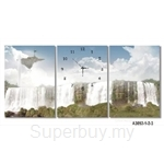hOurHome Modern Art Paintings & Clock -Rectangular, 3-pieces set- A3092-1-2-3
