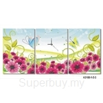 hOurHome Modern Art Paintings & Clock -Rectangular, 3-pieces set- A3100-1-2-3