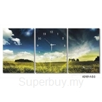 hOurHome Modern Art Paintings & Clock -Rectangular, 3-pieces set- A3101-1-2-3