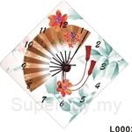 hOurHome Modern Art Paintings & Clock -Square, 1-piece set- L0002