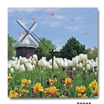 hOurHome Modern Art Paintings & Clock -Square, 1-piece set- Z0005