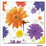 hOurHome Modern Art Paintings & Clock -Square, 1-piece set- Z0007