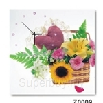 hOurHome Modern Art Paintings & Clock -Square, 1-piece set- Z0009