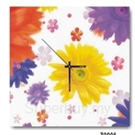 hOurHome Modern Art Paintings & Clock -Square, 1-piece set- Z0011