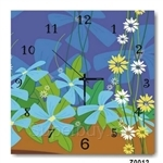 hOurHome Modern Art Paintings & Clock -Square, 1-piece set- Z0012