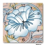 hOurHome Modern Art Paintings & Clock -Square, 1-piece set- Z0014