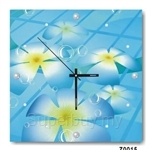 hOurHome Modern Art Paintings & Clock -Square, 1-piece set- Z0015