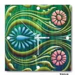 hOurHome Modern Art Paintings & Clock -Square, 1-piece set- Z0016