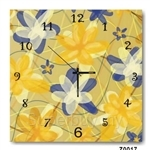 hOurHome Modern Art Paintings & Clock -Square, 1-piece set- Z0017