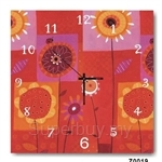 hOurHome Modern Art Paintings & Clock -Square, 1-piece set- Z0019