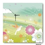 hOurHome Modern Art Paintings & Clock -Square, 1-piece set- Z0023