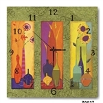 hOurHome Modern Art Paintings & Clock -Square, 1-piece set- Z0027