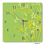 hOurHome Modern Art Paintings & Clock -Square, 1-piece set- Z0031