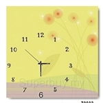 hOurHome Modern Art Paintings & Clock -Square, 1-piece set- Z0032