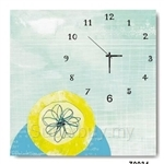 hOurHome Modern Art Paintings & Clock -Square, 1-piece set- Z0034