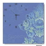 hOurHome Modern Art Paintings & Clock -Square, 1-piece set- Z0035