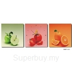 hOurHome Modern Art Paintings & Clock-Square, 3 Pieces-Z3007