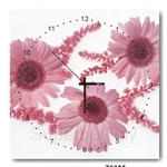 hOurHome Modern Art Paintings & Clock -Square, 1-piece set- Z0385