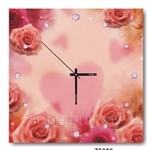hOurHome Modern Art Paintings & Clock -Square, 1-piece set- Z0389